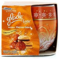 Bougie decorative elimination d'odeurs parfum marron glace GLADE