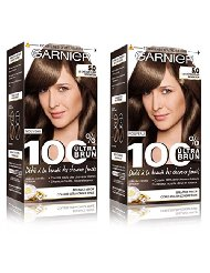 Garnier 100% Brun Coloration Permanente Châtain Clair Sensation - Lot de 2