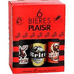 Coffret bieres Plaisir assorties 6x33cl