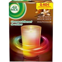 Air Wick, Bougie Multicolor vanille & caramel, la bougie de 420 g