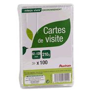 Cartes De Visite Bristol 82 X 128 Mm 210 G Image 1 2
