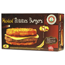 Potatoes burger halal x4 680g