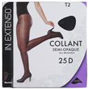 In Extenso collant semi-opaque noir 25D taille 2