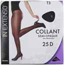 In Extenso collant semi-opaque noir 25D taille 3