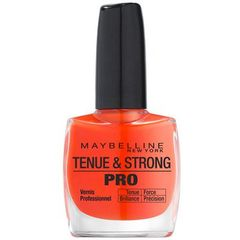 Gemey Maybelline, Tenue & Strong Pro - Vernis a ongles Orange Couture 460, le vernis a ongles