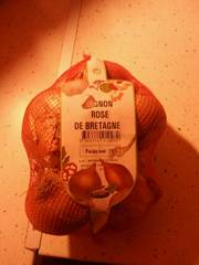 Oignon rose de Bretagne, calibre 50/70, France, filet 1kg