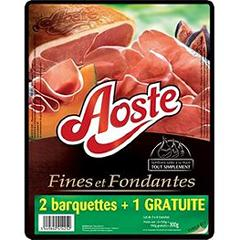 Aoste jambon nature tranches fines x2 300g