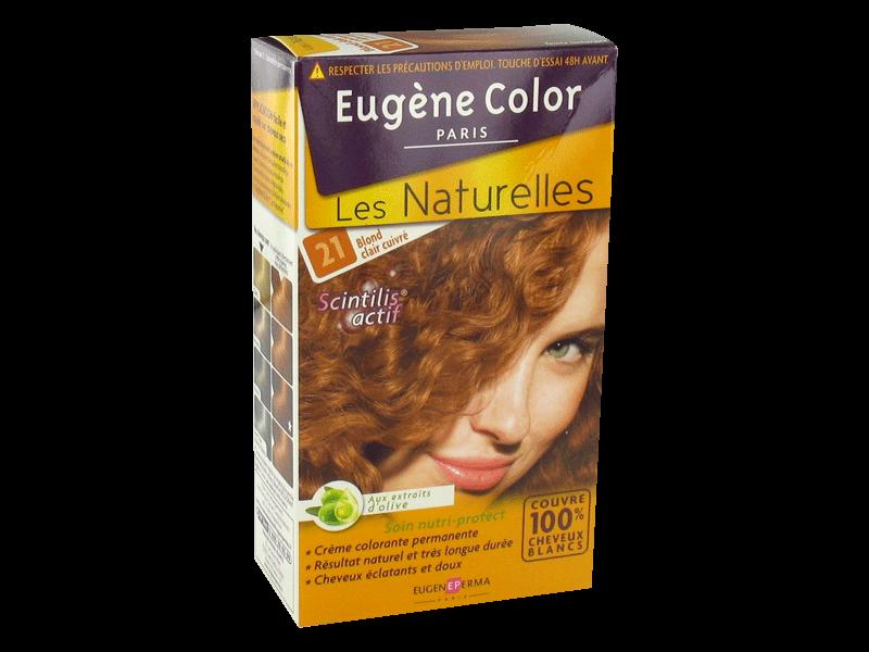eugene color les naturelles n21 blond clair cuivre - Coloration Blond Clair Cuivr