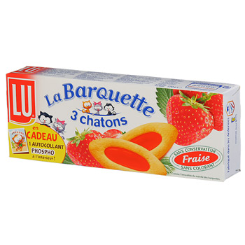 Biscuit barquette Lu 3 Chatons Fraise 120g