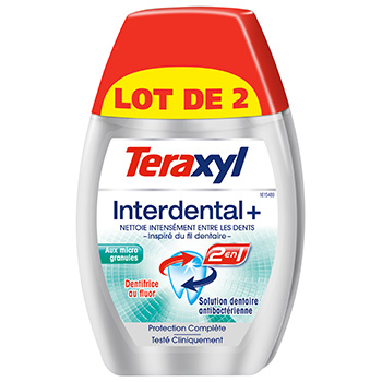 Dentifrice Teraxyl Interdental + 2x75ml