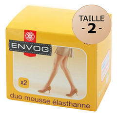 Collants Envog mousse Elasthanne beige clair T2 x2