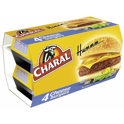 Cheesburger Charal Snack 4x145g