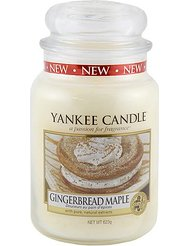 Yankee Candle 1342585E Bougie senteur Gingerbread Mapple Blanc
