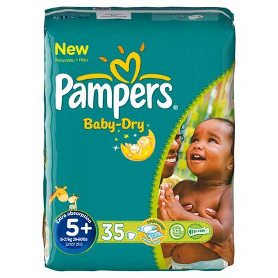Pampers baby dry geant T5 + x35
