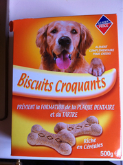 Biscuit croquant chien 500g