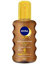 Nivea Sun Huile Protectrice en Spray Fps6 200 ml - Lot de 2