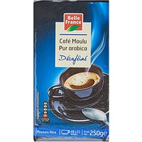 Belle France Café Décaféiné Pur Arabica 250 g - Lot de 6