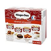 Minicups caramel Attraction HÄAGEN DAZS x4 344g