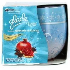 Glade bougie elimination d'odeurs grenade epices x1