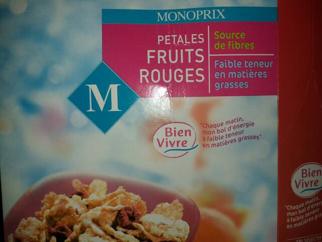 Petales cereales fruits rouges
