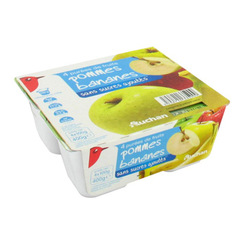 Auchan compote pomme banane 4x100g