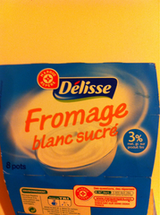 Fromage blanc Delisse Sucre 8x100g