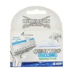 Wilkinson Sword quattro titanium sensitive lames x4