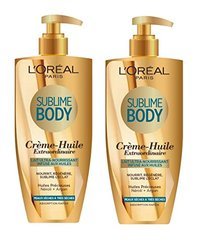 L'Oréal Paris Sublime Body Lait Infusé Ultra Nourrissant Huile 250 ml - Lot de 2