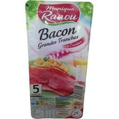 Monique Ranou, Bacon grandes tranches à cuisiner, le paquet de 5 tranches - 120 g