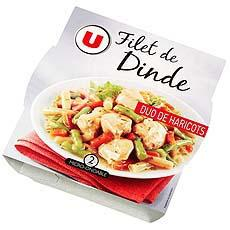 Filet de dinde et duo haricots U, 300g