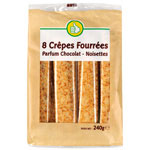 Pouce crepes fourrees au chocolat x8 - 240g