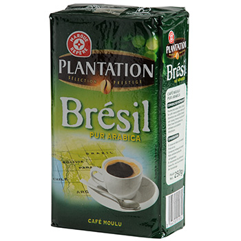 Cafe moulu Plantation Bresil pur arabica 250g