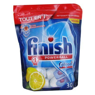 Tablettes pour lave vaiselle tout en 1 parfum citron finish powerball 45 uni - Quel produit utiliser pour lave vaisselle ...