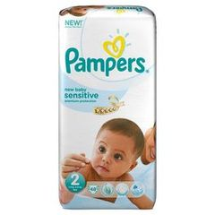 Pampers, Couches New Baby, taille 2 : 3-6 kg, le paquet de 48