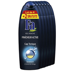 Gel douche cap tonique Fa 4x250ml