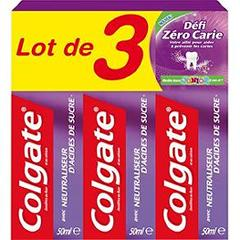 Colgate dentifrice défi zéro carie junior 3x50ml