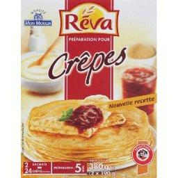 Preparation pour crepes, qualite mon moulin, 2 x 190g, 380g