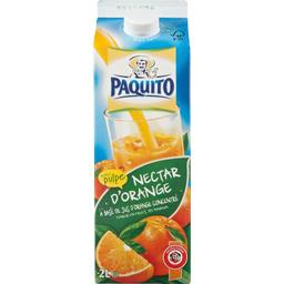 Nectar d'orange avec pulpe, a base de concentre, la brique de 2l