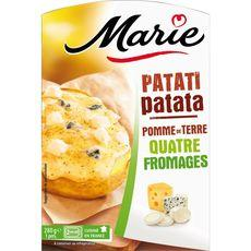 Patati patata pomme de terre 4 fromages MARIE, 280g