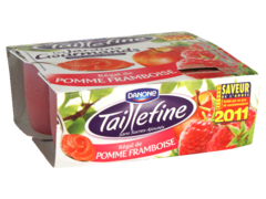 Taillefine Les Jardins Gourmands pomme framboise 4x100g