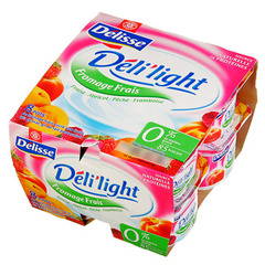 Fromage blanc Deli'light fruits 0% 8x100g