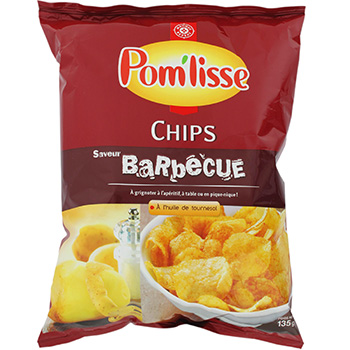 Chips Pom'Lisse barbecue 135g