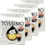 Tassimo Carte Noire Cafe Long Classic / Voluptuoso, Rainforest Alliance Vérifié, Lot de 4, 4 x 16 T-Discs