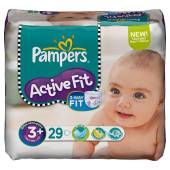 Pampers active fit mid pack midi + x29