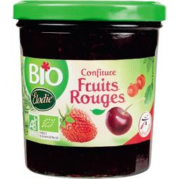 Confiture extra de 3 fruits rouges, certifie AB, le bocal de 360g