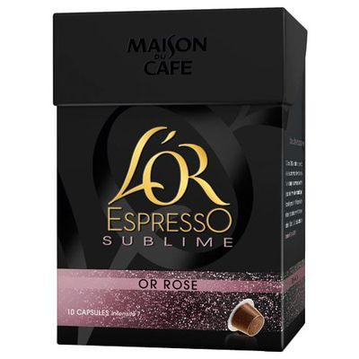 Cafe l'Or espresso Maison Cafe Sublime rose x10 capsules 52g