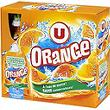 Boisson aux fruits plate orange U, 6 pochons de 20cl