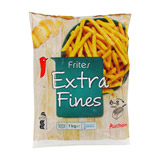 frites extra fines auchan 1kg