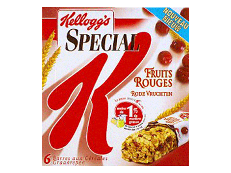 Barres céréales fruits rouges Special K