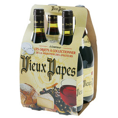 Vin rouge de table VIEUX PAPES, 4x75cl